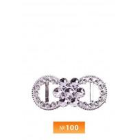 Пряжка пластиовая №100 никель (100 штук)