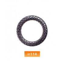Кольцо пластиковое №114 блек никель 3 см (250 штук)