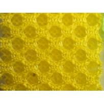 Сетка обувная на поролоне (желтый) (метр )