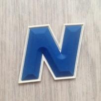 Этикетка силиконовая N 4,5смх4,5см под заказ (100 штук)