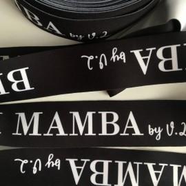 Резинка с логотипом Mamb 40мм сублимационная печать под заказ (метр )