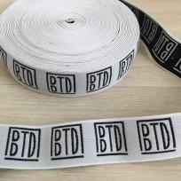 Резинка с логотипом BTD 40мм под заказ (метр )