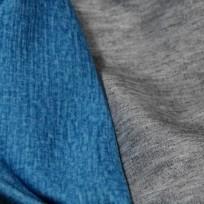 Ткань трикотаж дайвинг меланж двухсторонний бирюзово-серый (метр )