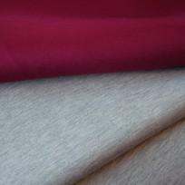 Ткань трикотаж неопрен двусторонний марсала+меланж (метр )