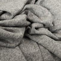Тканьтрикотаж софт меланж светло-серый (метр )