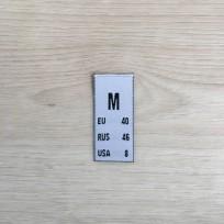 Размер жаккрдовый 15 мм белый M (100 штук)