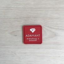 Этикетка силиконовая Adam 3смх3см под заказ (100 штук)
