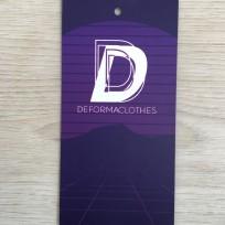 Этикетка картонная 5смх10см Def под заказ (1000 штук)