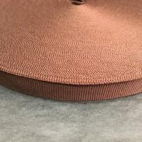 Тесьма репсовая тж 15мм коричневый темный (50 метров)