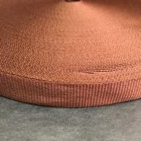 Тесьма репсовая тж 15мм коричневый светлый (50 метров)