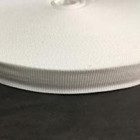 Тесьма репсовая тж 20мм белый (50 метров)