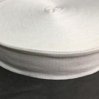 Тесьма репсовая тж 25мм белая (50 метров)