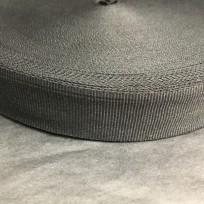 Тесьма репсовая тж 25мм черная (50 метров)