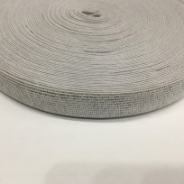 Резинка 20мм серебро белый (25 метров)