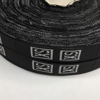 Размерная лента (тканная) черная XS (1000 штук)