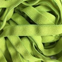 Резинка 15мм салатовая обувная плотная (метр )