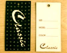 накатанные картонные бирки для одежды