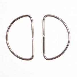 Полукольцо металл 2 см (100 штук)