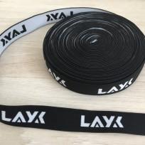 Резинка с логотипом Layk 25мм под заказ (метр )