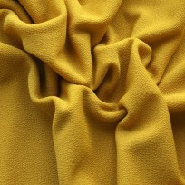 Ткань трикотаж креп горчичный (метр )