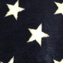 Ткань махра звезды белые (метр )