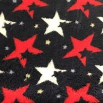 Ткань махра звезды красные (метр )