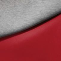 Ткань трикотаж неопрен двусторонний красный+меланж (метр )