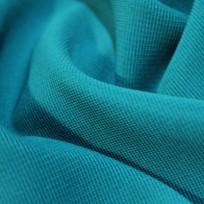 Ткань трикотаж оттоман (рубчик) голубая бирюза (метр )