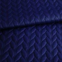 Ткань стеганный трикотаж кожа косичка электрик (метр )