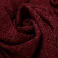Тканьтрикотаж софт меланж бордовый (метр )