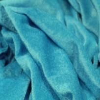 Ткань велюр стрейчевый тонкий голубая бирюза (метр )