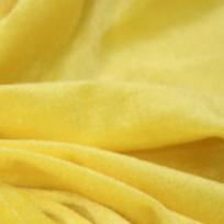 Ткань велюр стрейчевый тонкий желтый (метр )