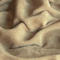Ткань велюр стрейчевый тонкий бежевый (метр )