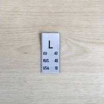 Размер жаккрдовый 15 мм белый L (100 штук)