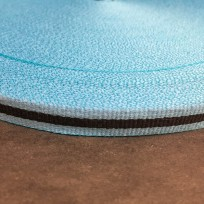Тесьма репсовая тж 10мм голубая 1п черная (50 метров)