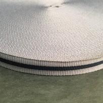 Тесьма репсовая тж 15мм серый 1п черная (50 метров)