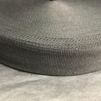 Тесьма репсовая тж 30мм черная (50 метров)