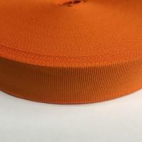 Тесьма репсовая тж 30мм оранжевая (50 метров)