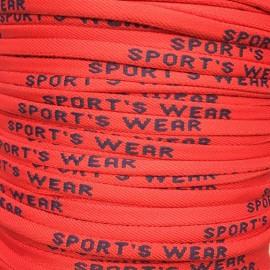 Шнурок кругліый 6мм Sport Wear красныый синий (метр )