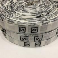 Размерная лента (тканная) белая S (1000 штук)