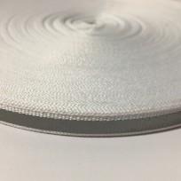 Тесьма светотражающая 1см белый (50 метров)