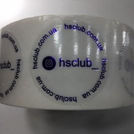 Наклейка брендированная Hsclub 50мм (Штука)