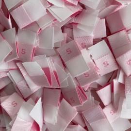 Размер жаккардовый 10 мм розовый малиновый S (1000 штук)