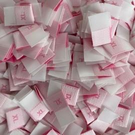 Размер жаккардовый 10 мм розовый малиновый XL (1000 штук)