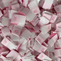 Размер жаккардовый 10 мм розовый малиновый XS (1000 штук)