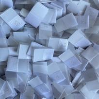 Размер жаккардовый 10 мм белый серый XS (1000 штук)
