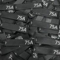 Размер атласный 10x50 мм 75A черный серебро (100 штук)
